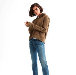 NILI LOTAN Janie Hoodie Sweatshirt Loungewear Whiskey Net-A-Porter S NWT $275