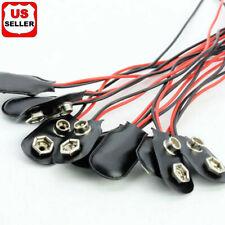 1 5 10 Pcs Snap 9V (9 Volt) Battery Clip Connector I Buckle Type Black w/ Cable