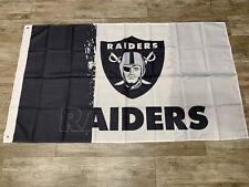 New listing Oakland Raiders Mexico Flag - 3x5 ft - Black Gray And White Flag Bandera 2020