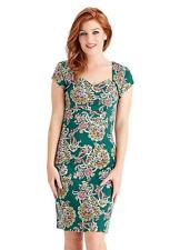Joe Browns Green Garden Party Dress Size UK 16 Dh088 CC 18
