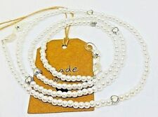Pearls & Hearts White Glasses chain Beaded Lanyard Cord Chain Strap Sunglasses