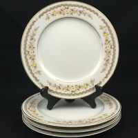 Set of 4 VTG Salad Plates by Ekco International Fine China Golden Autumn Japan
