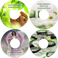 Guided Meditation Angels Breathing Anxiety Stress & Reiki Relaxation 4 CD Set