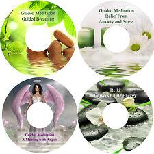 Guidate Meditazione Angeli Respiratorio Ansia Stress & Reiki Rilassamento 4 CD
