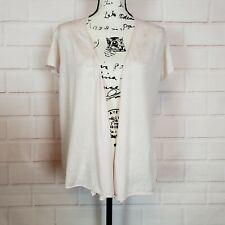 Eileen Fisher Women's Open Front Silk Blend Lightweight Cardigan Sweater Size L