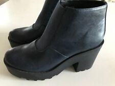 H&M Divided Boots Stiefeletten Chelsea Dunkelblau (fast Schwarz) 39 ungetragen