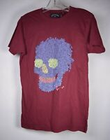Marc By Marc Jacobs Mens Womens T-Shirt Skull Flower Maroon S NWT