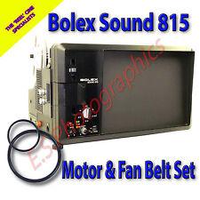 BOLEX 815 Super 8mm Cine Projector Motor Drive Belt & Fan Belt (Set of 2)