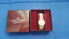 Georg Jensen Women's Watch 18K Gold Case and .925 Sterling Sliver Band