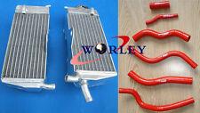 For HONDA CR125R CR125 1990-1997 91 92 93 94 95 96 Aluminum Radiator + Hose RED
