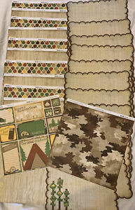 Z CARDSTOCK Kit Bo Bunny 25 Lot Camping Fishing Picnic Outdoor Tree Wood Boat