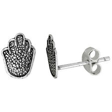 Sterling Silver Hand Stud Earrings