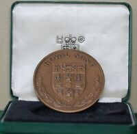 1987 Royal Mint Queen's Award For Export 65mm Bronze Medal In Green Fitted Case