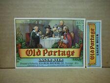 Old Portage Lager Irtp 12 Oz Beer Label-Eulberg Brg.,Portage,Wis.