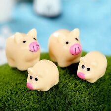 Resin Pigs Figurine Fairy Dollhouse Bonsai Terrarium Garden Ornament 10pcs