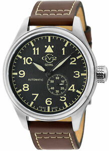 Gv2 By Gevril Men's 18001 Aeronautica Swiss Automatic Sub-Dial Leather Watch