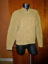 Vtg 60s Rockabilly Milwaukee Knits Wool Dacron Knit Hippie Cardigan Sweater