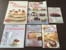 "6 Books ""The Joy Of Baking"", ""Cheesecakes, Pavlovas & Trifles"" & ""Fast Desserts"""