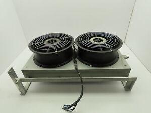 """Thermatron Dual Fan Heat Exchanger Radiator Model 725 10"""" Fan 115V"""