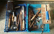 **old rusty tools** joblot bundle hand tools nik naks garage shed screw drivers