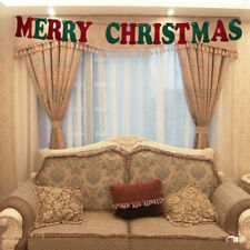 MERRY CHRISTMAS BANNER GARLAND HANGING BUNTING XMAS PARTY DECORATIONS DIY