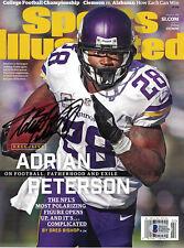 Adrian Peterson Signed Minnesota Vikings Sports Illustrated 1/11/16 BAS 24415