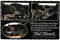 Ansichtskarte Bad Berneck - Spruch zur Kneippkur - 3 Ansichten - Fichtelgebirge