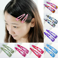 10x Wholesale Multicolour Hair Snap Clips Claws Girls Women's Hair Accessories