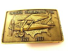 Belt Buckle Experimental Aircraft Vintage Lindbergh Commemorative Tour 1927-1977