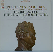 """BEETHOVEN OVERTURES LEONORE EGMONT GEORGE SZELL CLEVELAND ORCHESTRA 12"""" LP (d11)"""