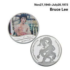 WR Chinese Kung Fu Bruce Lee Enter the Dragon Silver Coin Medallion Collectables