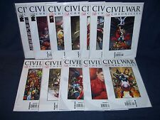 Civil War Chronicles #1- #12 Complete Set Marvel Comics NM with Bag and Board