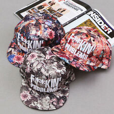 Fashion Women Floral Flower Snapback Hip-Hop Hat Flat Adjustable Baseball Cap uk