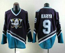 Vintage Mighty Ducks Ice Hockry Jerseys 9 Paul Kariya Ice Hockey Jersey Stitched
