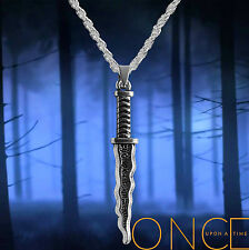 Once Upon A Time Rumpelstiltskin, silver necklace with Dark One Dagger