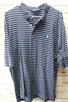 Polo Golf XL Blue Stripe Short Sleeve Men's Shirt