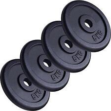 Hantelscheiben Set 4 x 5 kg Gewichte 20 kg Gewichtsscheiben Guss Hantel 30 mm