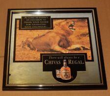 CHIVAS REGAL BLENDED SCOTCH WHISKY BAR SIGN MIRROR LION CHILDHOOD