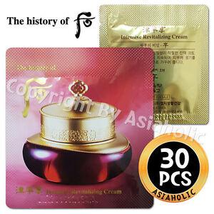 The history of Whoo Intensive Revitalizing Cream 30pcs Jinyul Cream Newist Ver