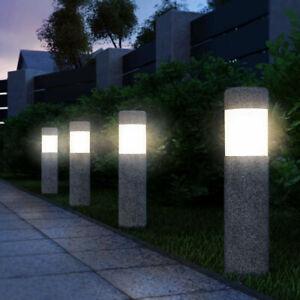 LED Solarleuchte Garten Steinoptik Dämmerungssensor 4x Gartenleuchte Solarlampe