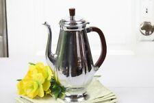 Krome Kraft Farber Bros Tea Pot Coffee Pot Brown Bakelite Handle Chrome Vintage
