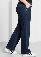 Wide Leg Stretch Blue Jeans size 32R (52w 31L)