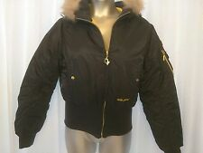 BABY PHAT BY KIMORA LEE SIMMONS SIZE LARGE BLACK HOODED JACKET EUC