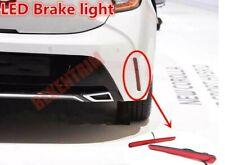 Hatchback LED Rear Bumper Lamp Led Brake Light 2x For 2019 2020 Toyota Corolla