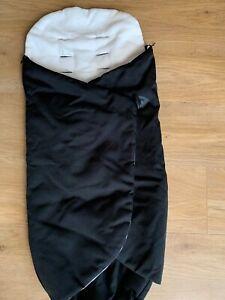 Universal Graco winter footmuff for pushchair,pram,black warm