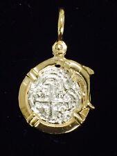 ATOCHA Coin Dolphin Pendant Gold Overlay Sterling Silver Sunken Treasure Jewelry