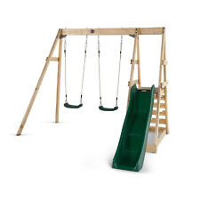 Plum Tamarin Wooden Swing With Slide Set