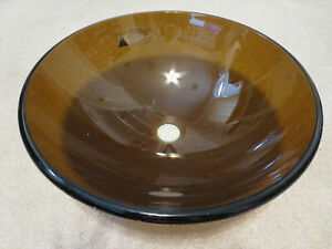 Home Decorators Collection Fuji Half Moon Vanity Sink - Brown