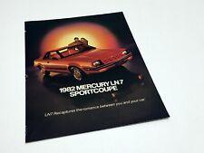 1982 Mercury LN7 Juniper Sales Preview Brochure