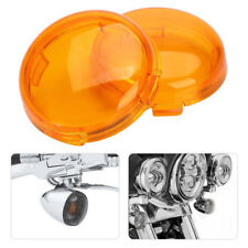 2x Turn Signal Light Lens Cover for Harley Electra Glide Sportster Touring Amber